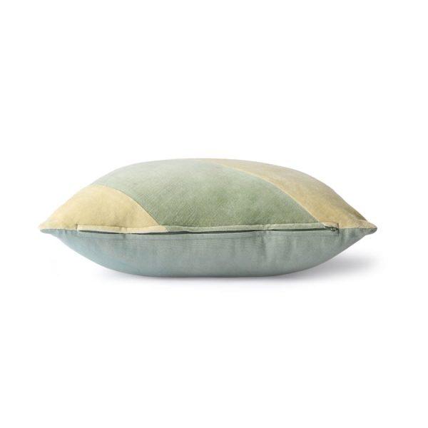 striped velvet cushion mint/green (45x45)