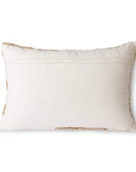 fluffy cushion white/beige (35x55)