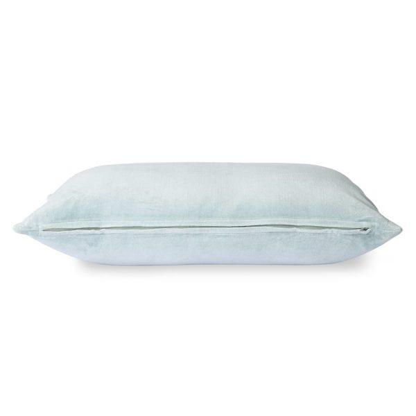 velvet cushion ice blue (40x60)