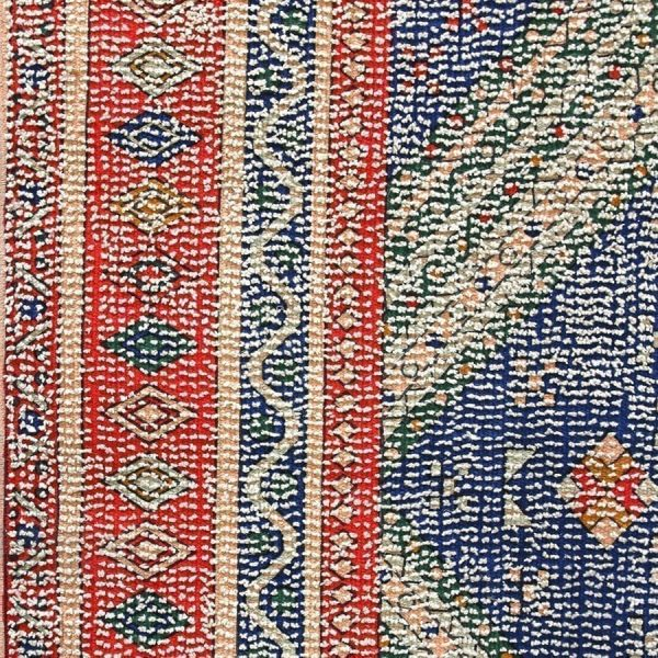 printed rug red/blue overtufted (150x240)