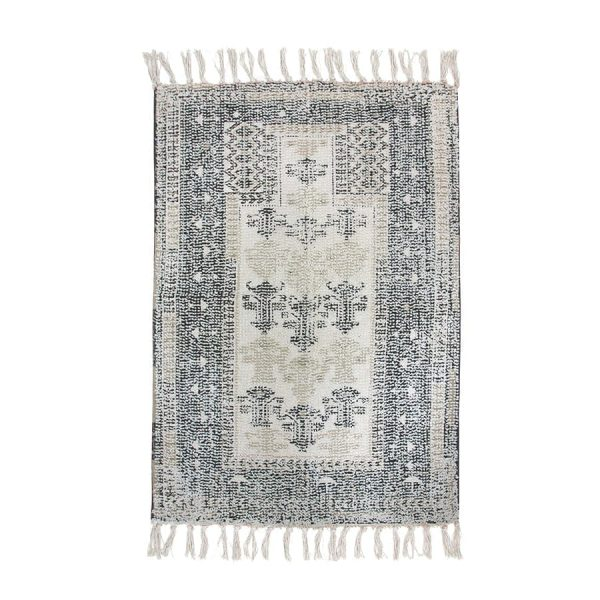 printed bath mat black/white overtufted (60x90)