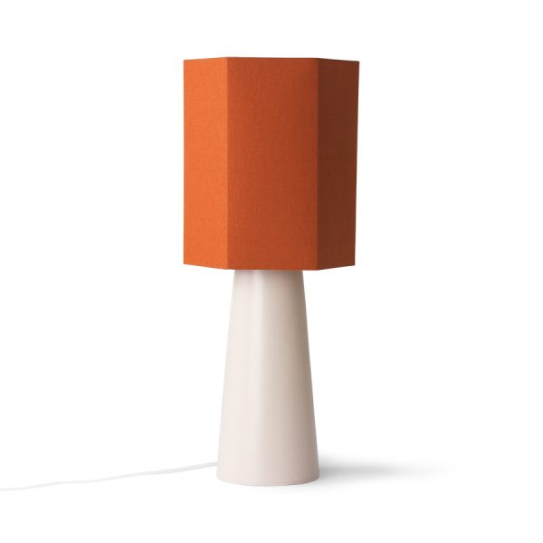 hexagonal lamp shade orange jute M