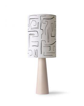 printed cilinder lamp shade black lines ø25