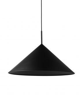 metal triangle pendant lamp L matt black
