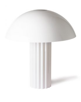 acrylic cupola table lamp white