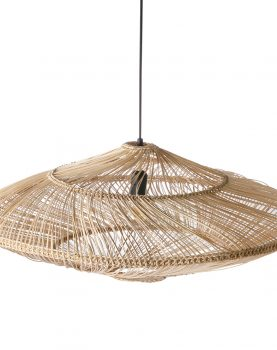 wicker pendant lamp oval natural