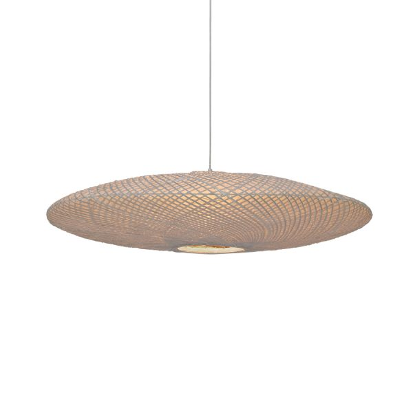 bamboo/paper pendant UFO lamp