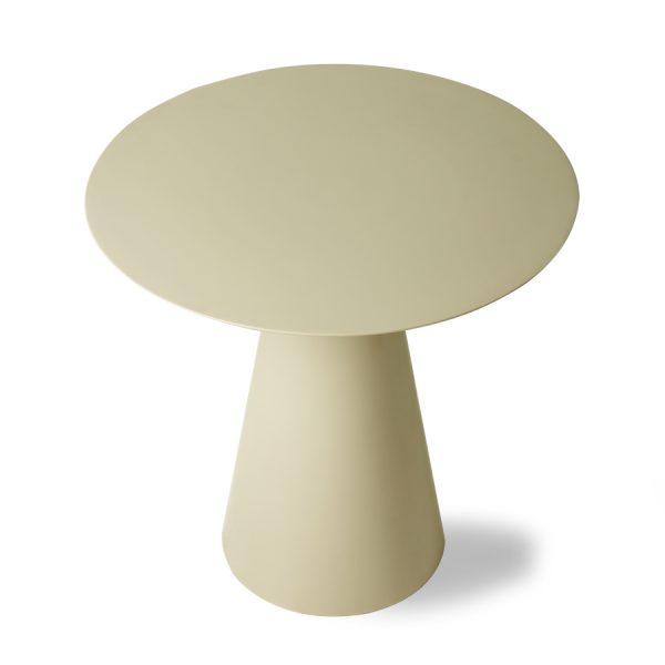 HKliving cream metal side table L (outlet)-30980