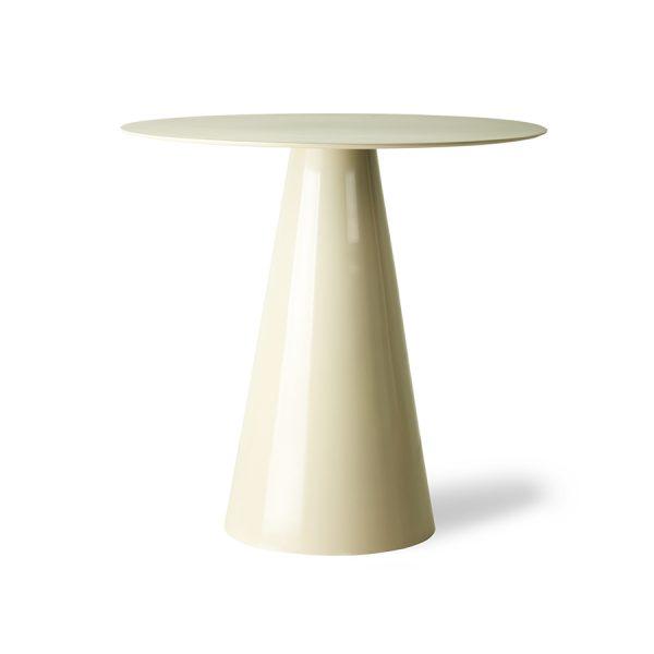HKliving cream metal side table L (outlet)-30979