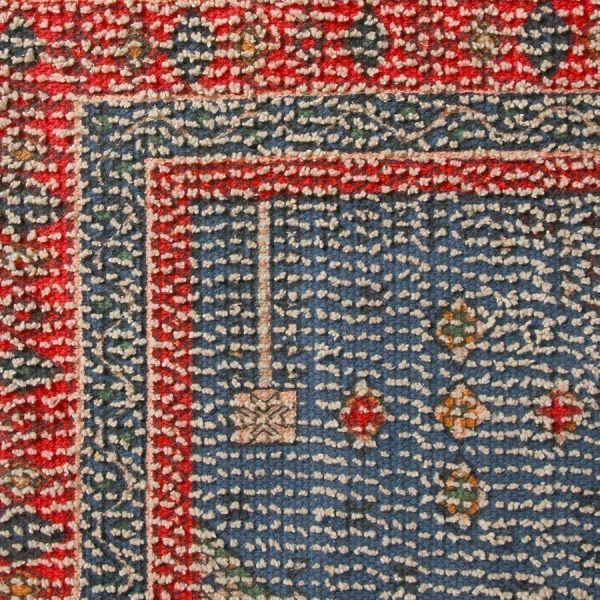 printed bath mat red/blue overtufted (60x90)