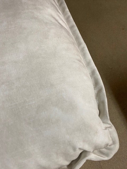 HKliving hocker retro velvet creme wit 72x65x46cm (outlet)-30988