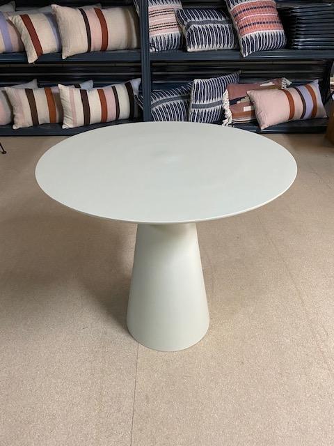 HKliving cream metal side table L (outlet)-0