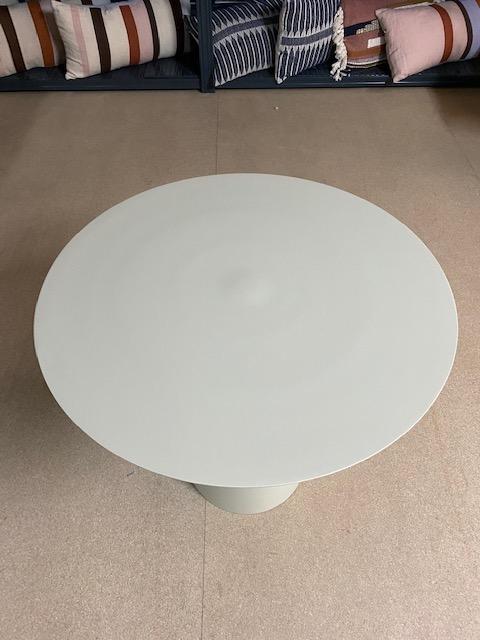 HKliving cream metal side table L (outlet)-30986