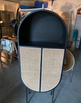 retro oval cabinet black-0