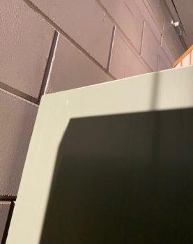 HKlliving vitrinekast kast display grijs nude hout 115x40x200cm (outlet)-31228