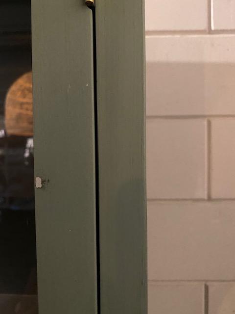 HKlliving vitrinekast kast display grijs nude hout 115x40x200cm (outlet)-31232