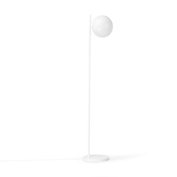 HKliving vloerlamp mat wit ball shade-32331