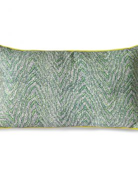 DORIS for HKLIVING: printed cushion green (35x60)