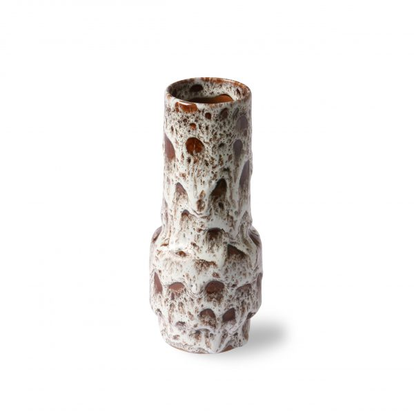 ceramic retro vase lava white