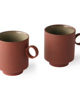bold & basic ceramics: coffee mug terra (set of 2)
