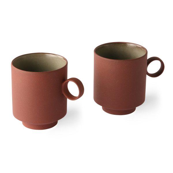 bold & basic ceramics: coffee mug terra (set of 2)