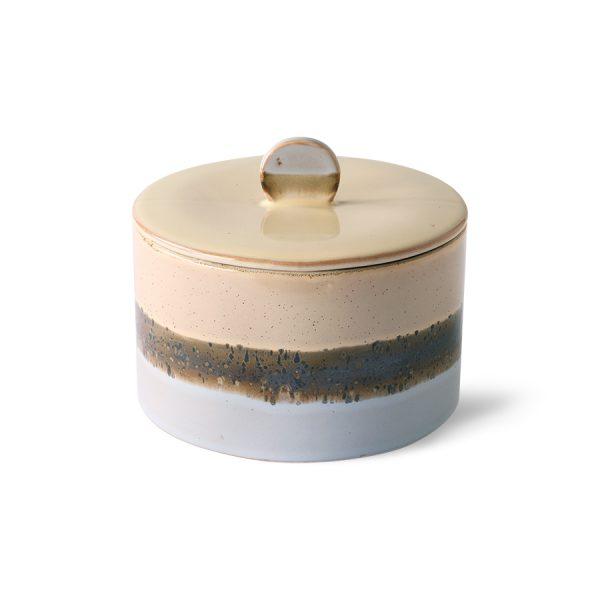 ceramic 70's cookie jar: lake