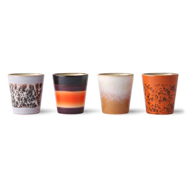 ceramic 70's ristretto mugs (set of 4)