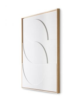 framed relief art panel white D large