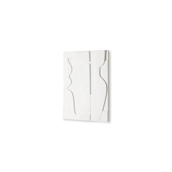 ceramic wall art panel matt white