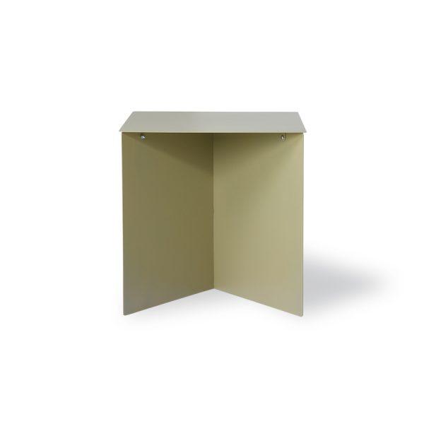 metal side table rectangular olive