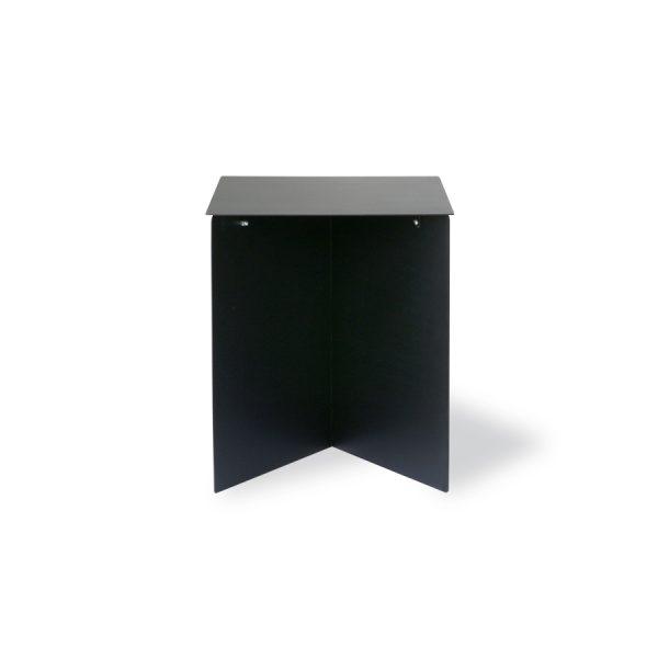 metal side table rectangular black