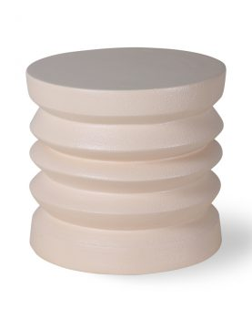 stoneware side table cream