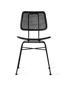 rattan desk chair black