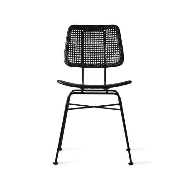 rattan desk chair black