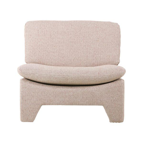 retro lounge fauteuil nude melange