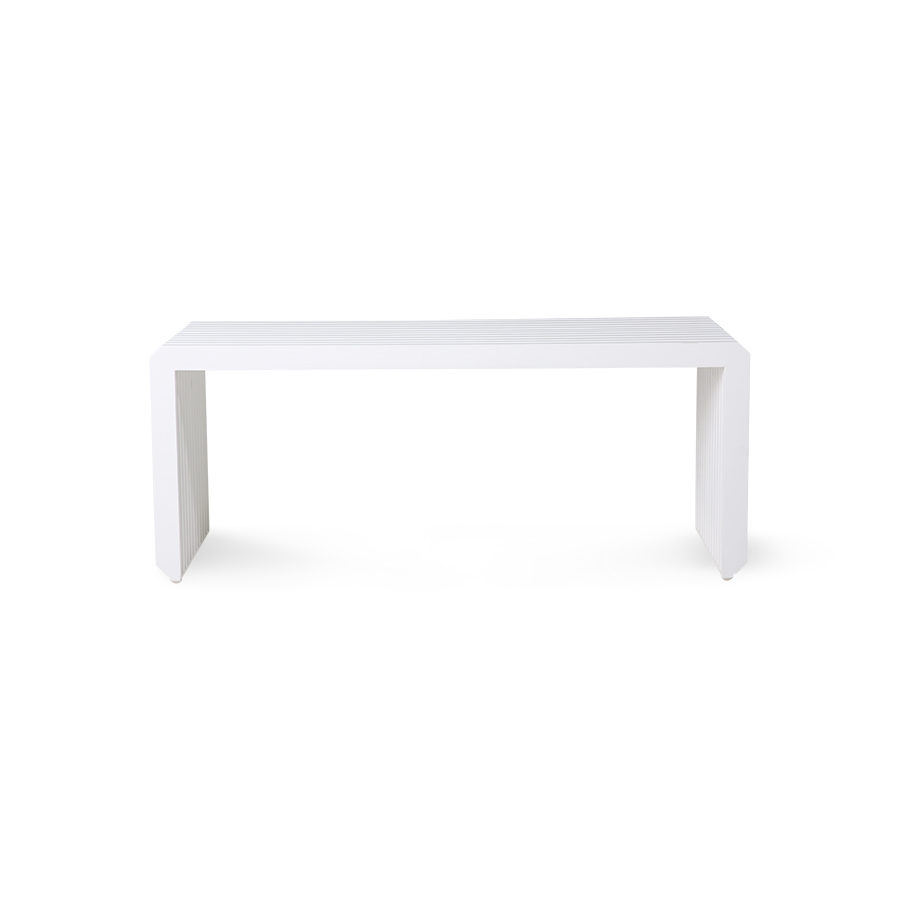 slatted bench/element white