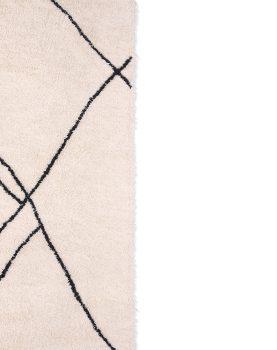 handwoven zigzag rug black/white (150x240)