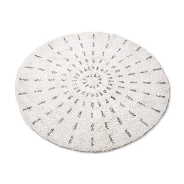 round bath mat swirl 120cm