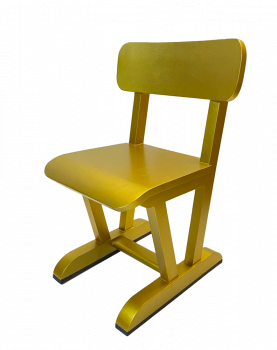 SILT 'n Pure kinderstoel schoolmodel goud