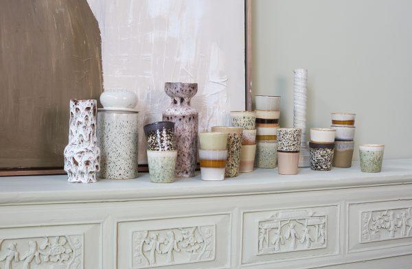 ceramic glazed flower vase