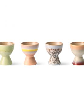 70s ceramics: egg cups (set of 4)