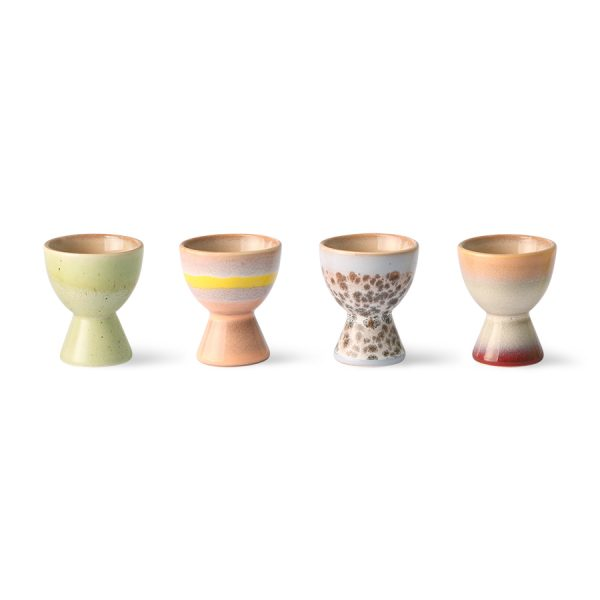 70s ceramics: egg cups (set of 4)