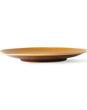 Kyoto ceramics: japanese dinner plate brown