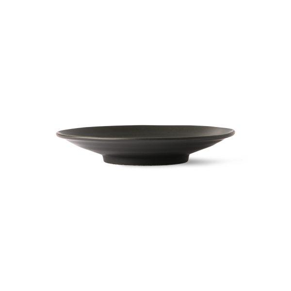 Kyoto ceramics: japanese dessert plate matt black