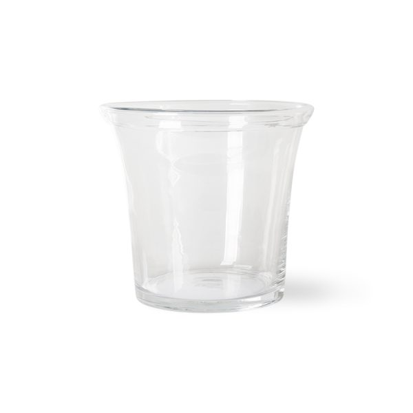 solid glass flower pot ø26cm