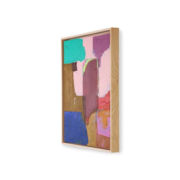 abstract painting multicolour 40x50cm