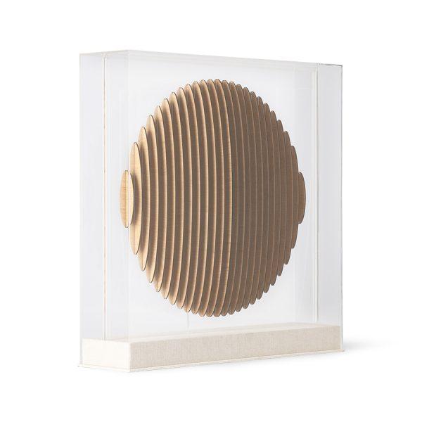 wooden circle art frame