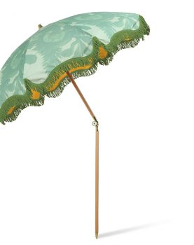 beach umbrella floral pistachio