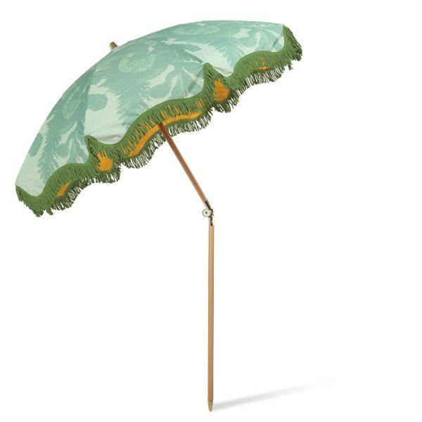 beach umbrella floral pistachio