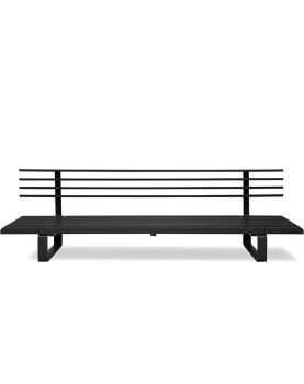 aluminium outdoor lounge sofa charcoal